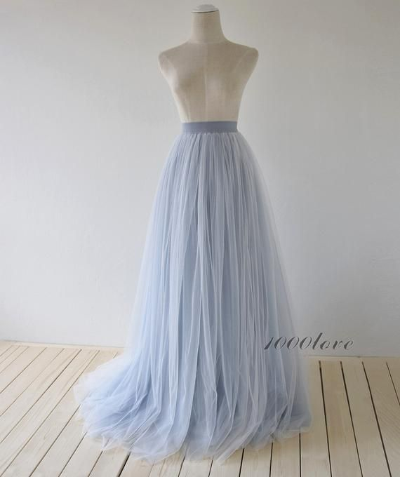 Photo of Elegant maxi train skirt,ombre long train skirt,3 layer evening skirt, bridesmaid dress,photo shoot