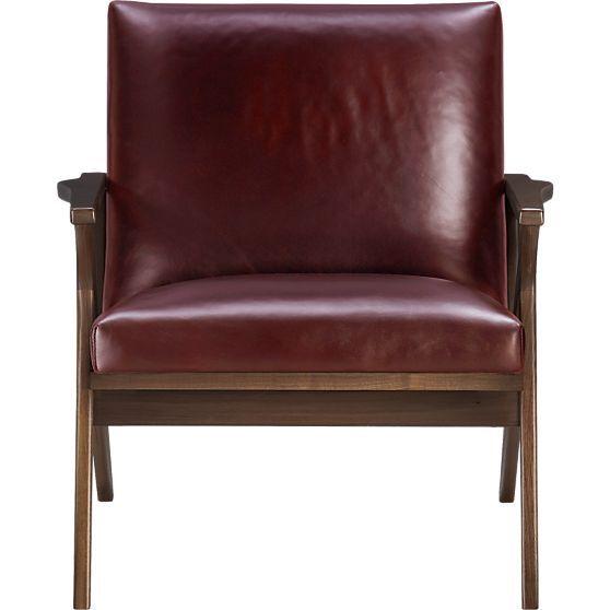 Cavett Leather Wood Frame Chair  churrrs  Chair Living