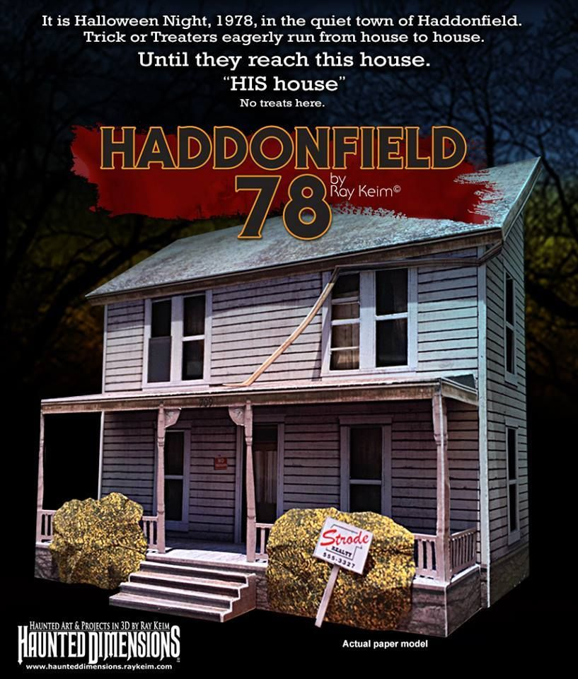 Halloween 2020 The Myers House Horror House Paper Models Now Available (For Free) | Halloween