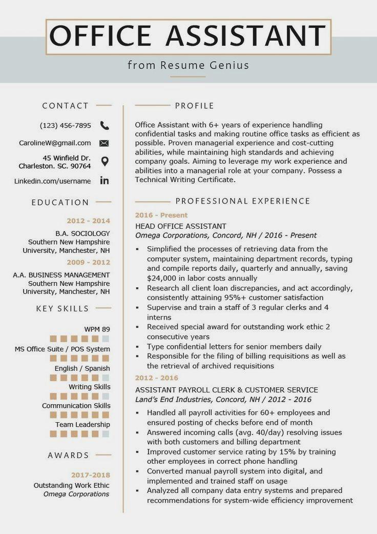 85+ Beautiful Cv leadership in 2020 Office assistant