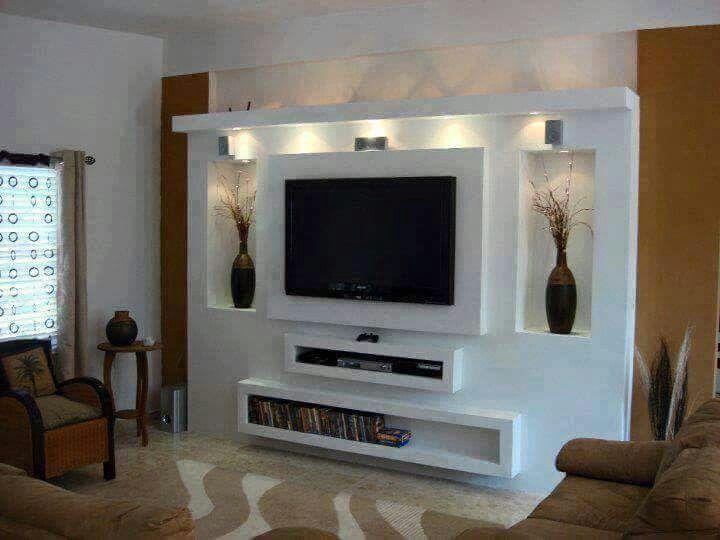 Pin By Zubair Pathan On Salas Wall Tv Unit Design Tv Unit