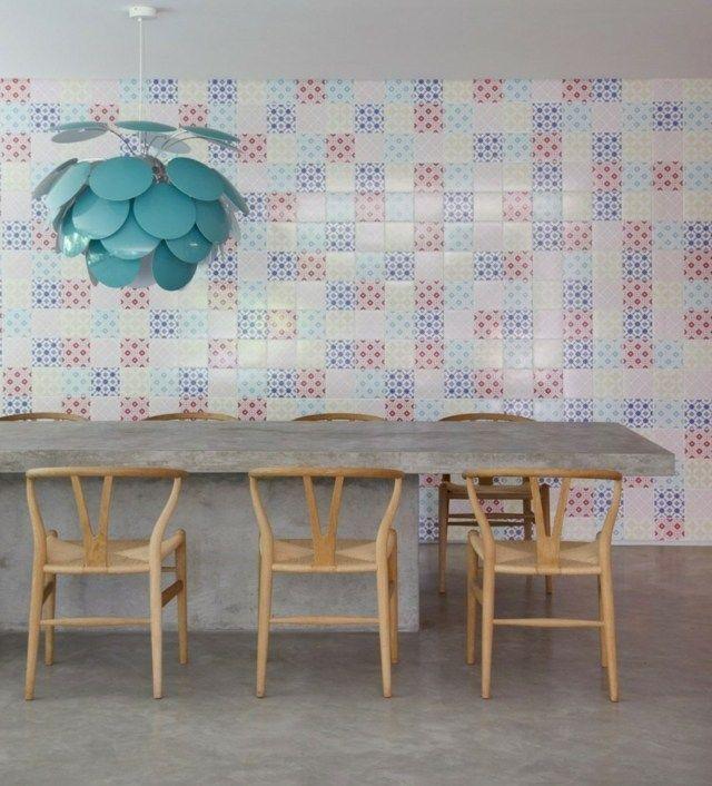 Pendelleuchte betontisch st hle moderne einrichtung ideen dining kitchen - Betontisch wohnzimmer ...