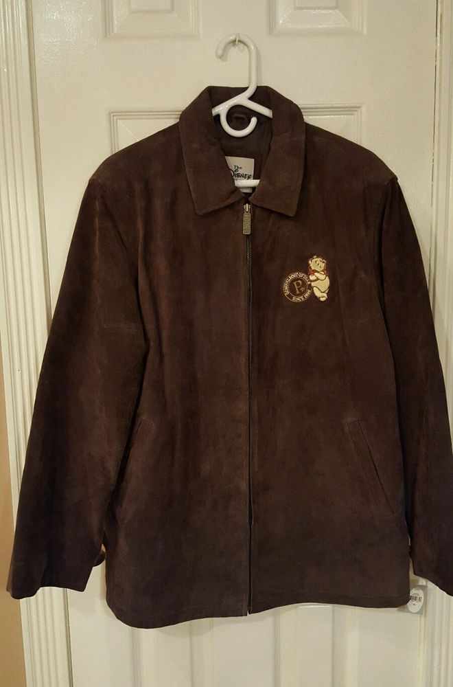 NWT VTG Winnie The Pooh Suede XL Leather Jacket Coat Women's Disney Store NEW in Collectibles, Disneyana, Contemporary (1968-Now) | eBay