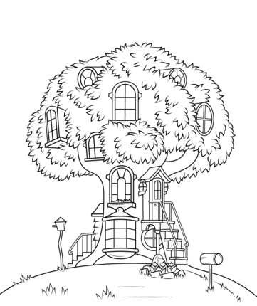 Berenstain Bears Treehouse Coloring Page Bear Coloring Pages House Colouring Pages Berenstain Bears Party
