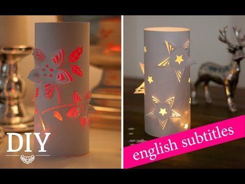 Weihnachtsdeko Diy weihnachtsdeko basteln 3d deko windlichter tutorial 3d wind