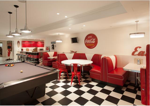 Restaurante inspirado nos anos 50 rest pinterest for American diner style kitchen ideas