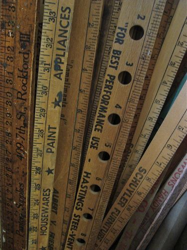 rulers and yard sticks i love to collect*