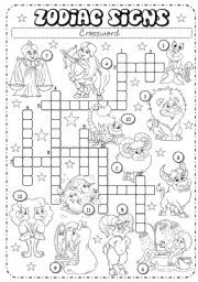 English Teaching Worksheets Zodiac Signs