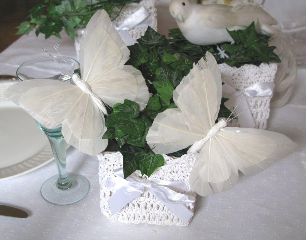 Centre de table papillon inspiration art de la table for Pinterest centre de table