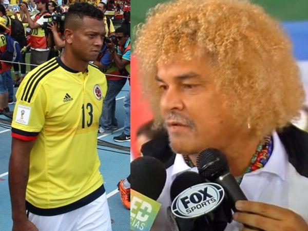Carlos Valderama enfiló sus críticas a Freddy Guarín tras la goleada de Uruguay a Colombia en Montevideo. Le faltaron huevos como capitán de Colombia. Octubre 22, 2015.