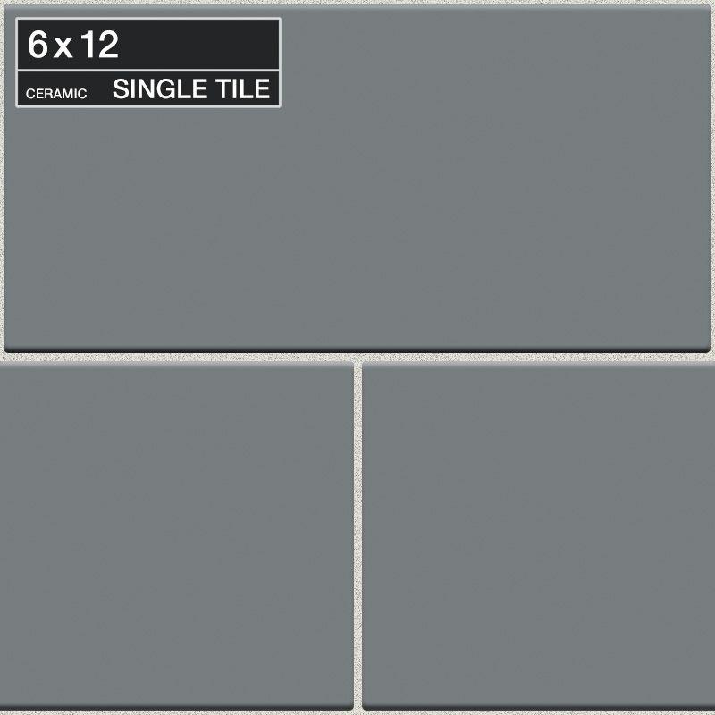 "Daltile QH08-6121P Natural Hues Cinder 12"" x 6"" Flat Ceramic Multi-Surface Tile Cinder Tile Multi-Surface Tile Field Tile"