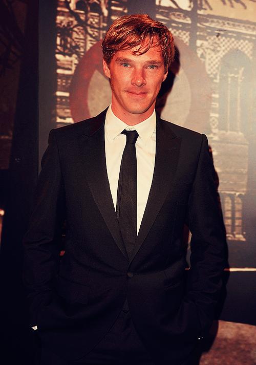 Benedict Cumberbatch's classic black suit look