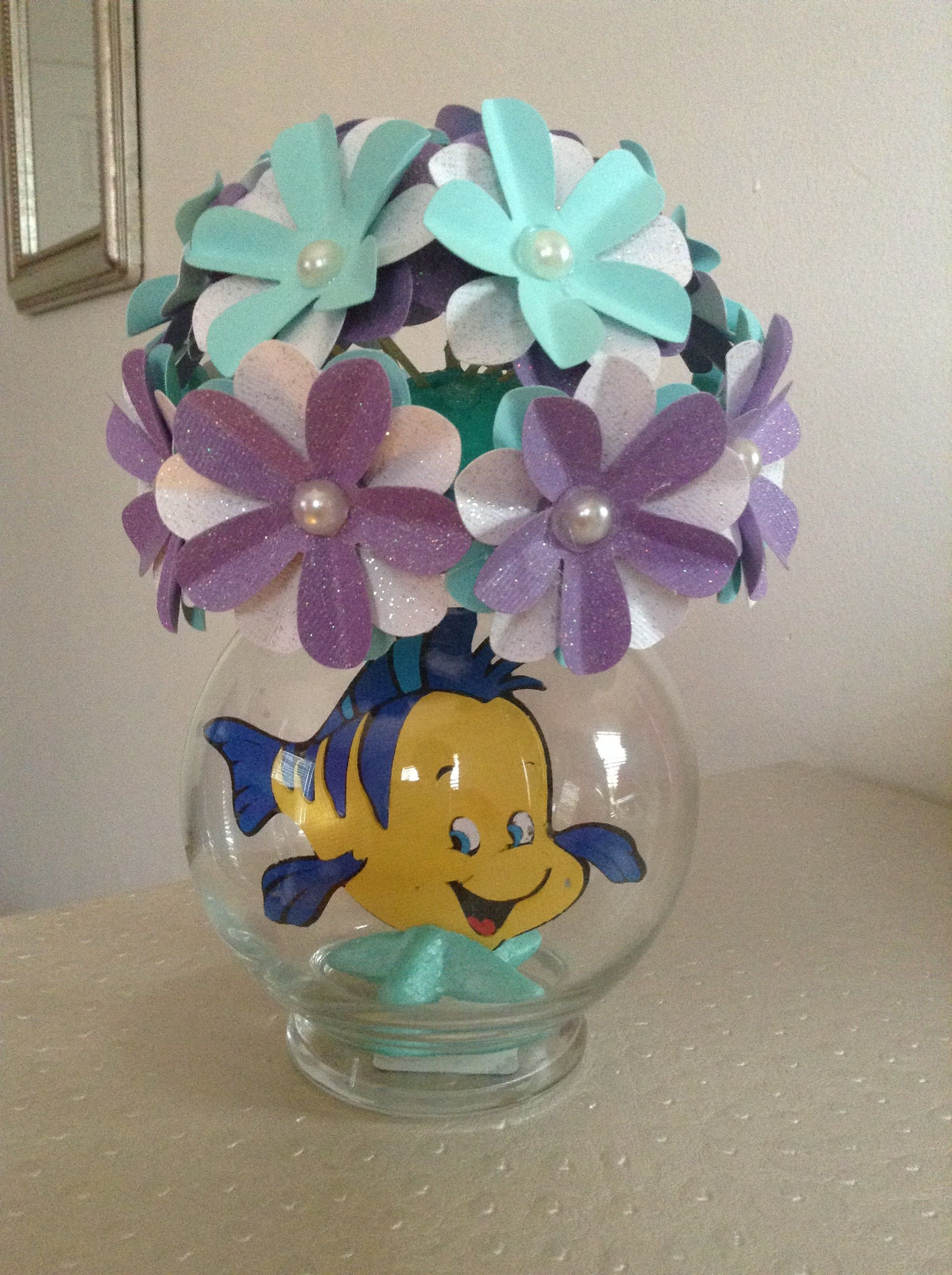 Little Mermaid Flounder Party Centerpiece Mermaid