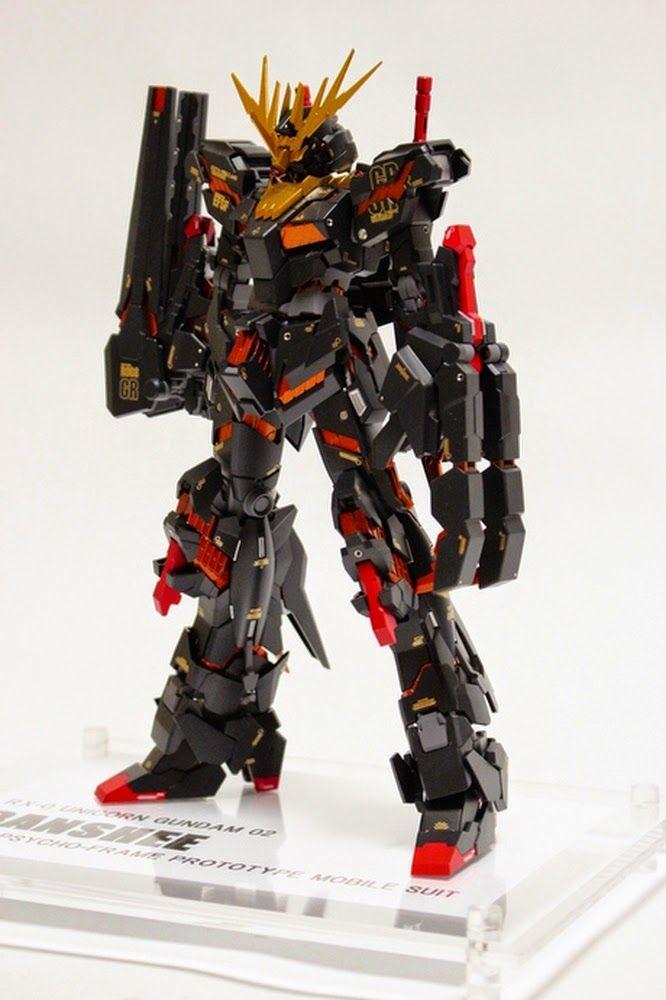 Custom Build Mg 1 100 Banshee Black Shukuen Gundam Kits