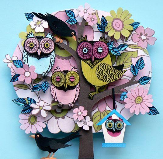 Summer Owl Tree - Helen Musselwhite