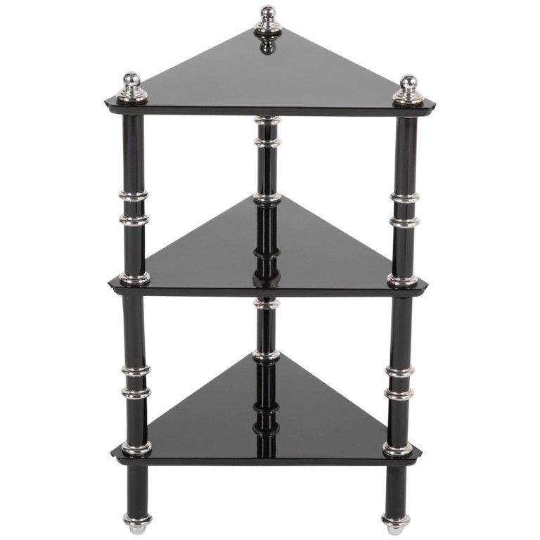 A Rare Transitional Side Table Etagere By Warren