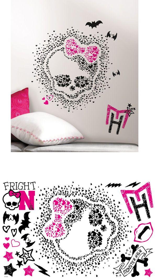 Monster High Heart Skullette Wall Decals Wall Sticker Outlet