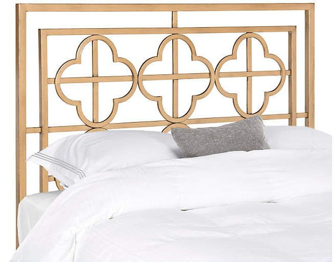 Sania Headboard - Antiqued Gold Blue 2018 Bedroom Pinterest