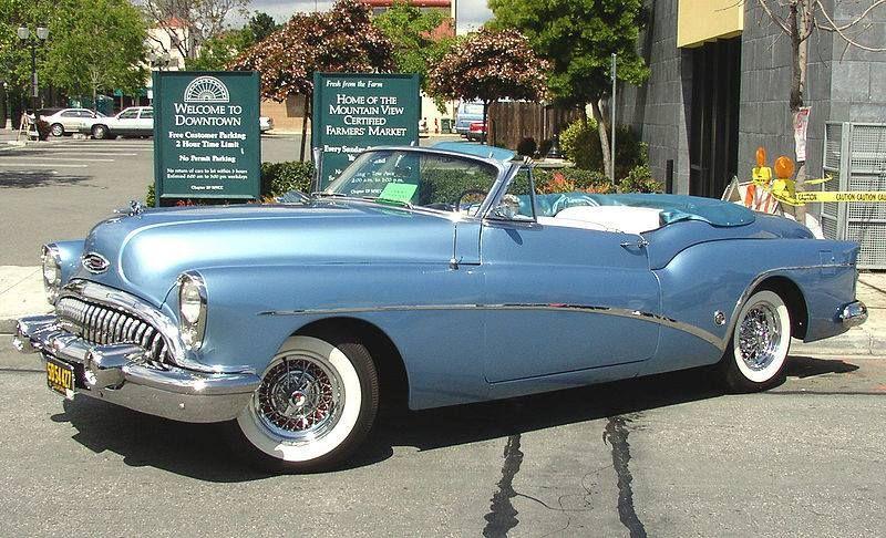 1953 Buick Skylark convertible roadster with original Kelsey-Hayes ...