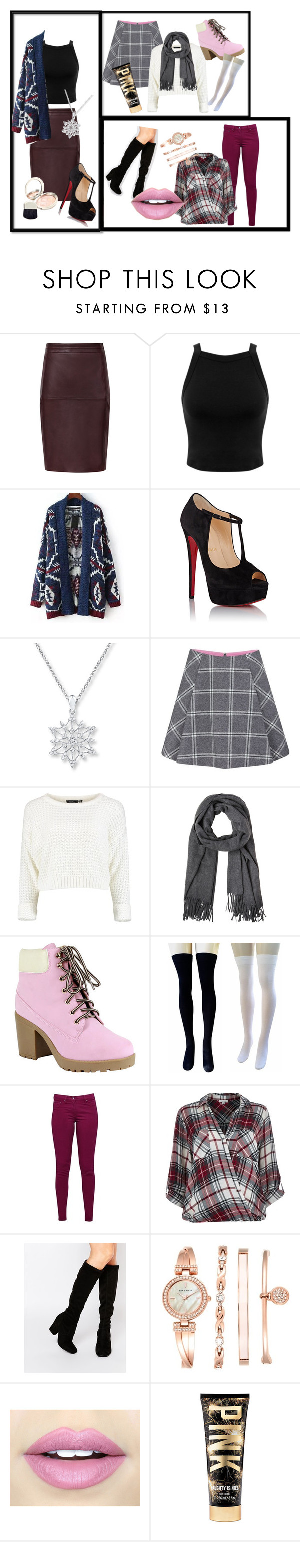 """""""Holiday"""" by gabrielledimura ❤ liked on Polyvore featuring Miss Selfridge, Relaxfeel, Christian Louboutin, Paul & Joe Sister, Reneeze, Great Plains, River Island, Faith, Anne Klein and Fiebiger"""