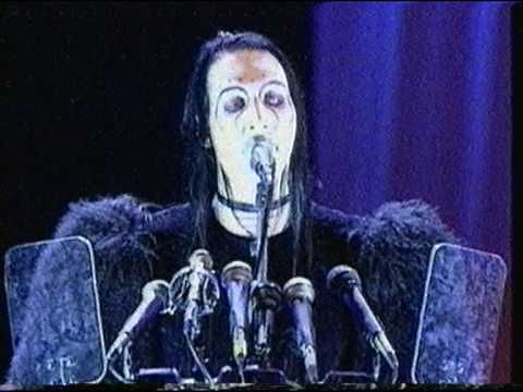 My favorite rendition of this song. Marilyn Manson - the beautiful people (live at the MTV awards1997)