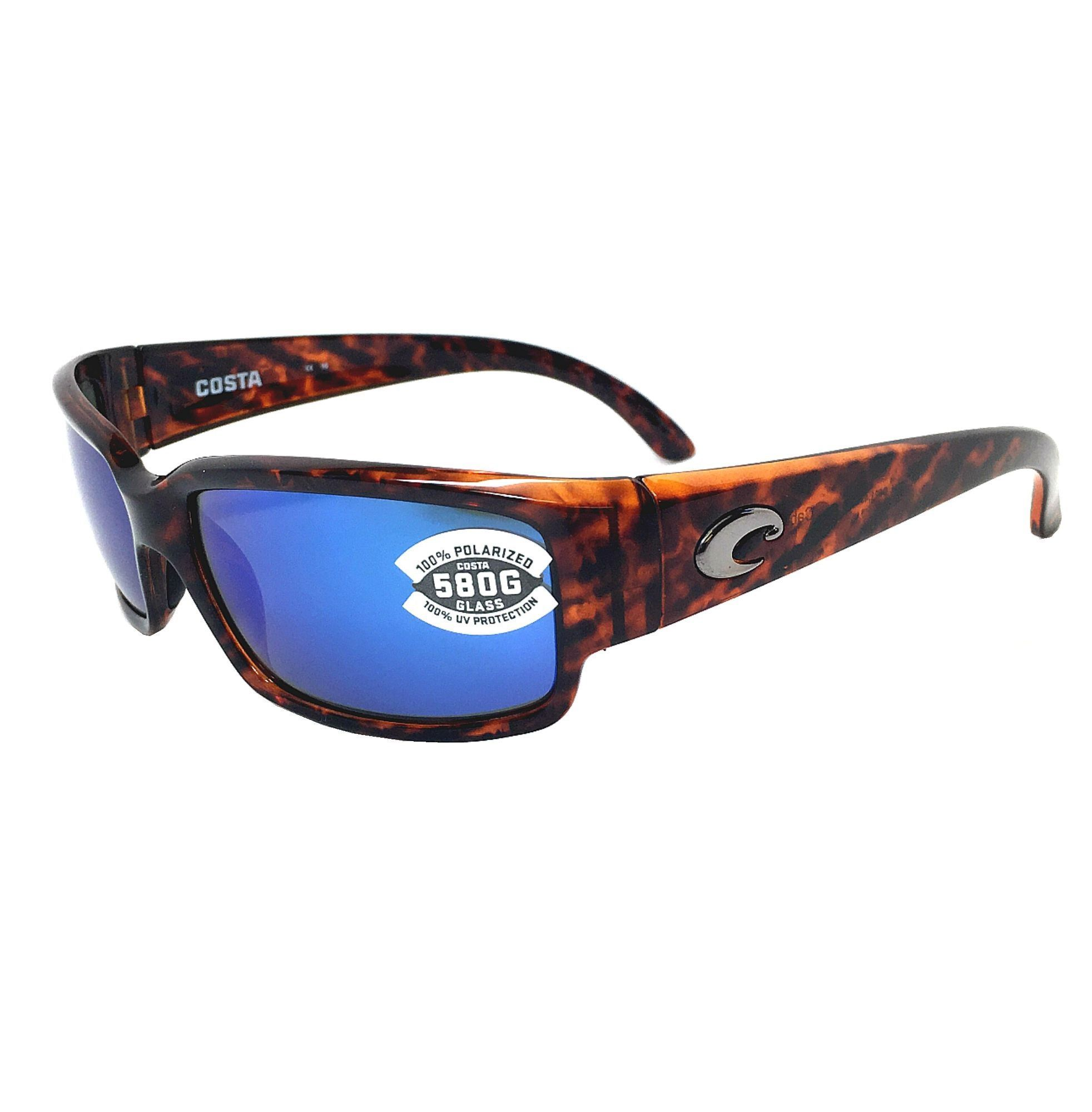 Costa Del Mar Caballito 580G Shiny Tortoise   Blue Mirror Polarized ... 1bed520cd3e2