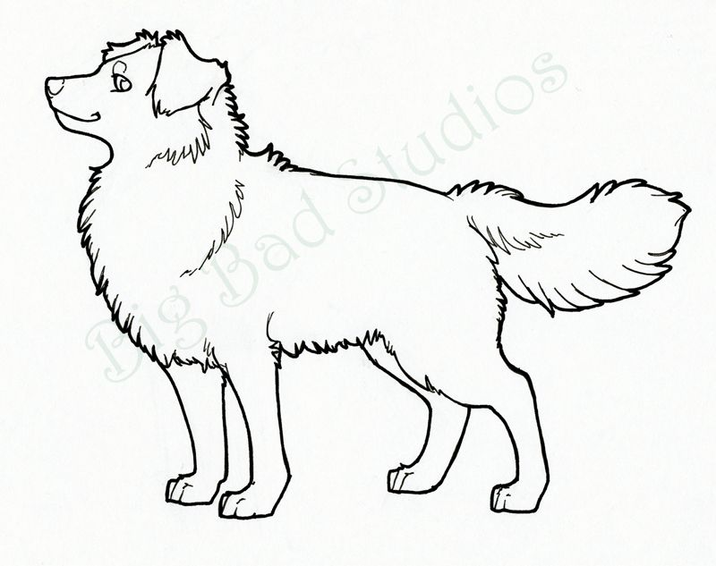 Dog Line Drawing Art Big Dogs You Find At Dogmessengercom Dogs