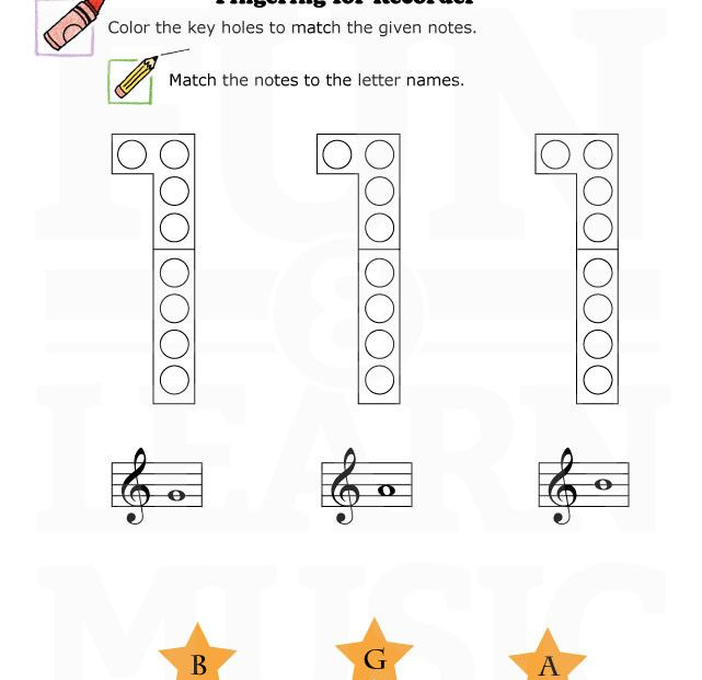 Recorder Fingering Charts Set 2 This file contains 41 85 x 11