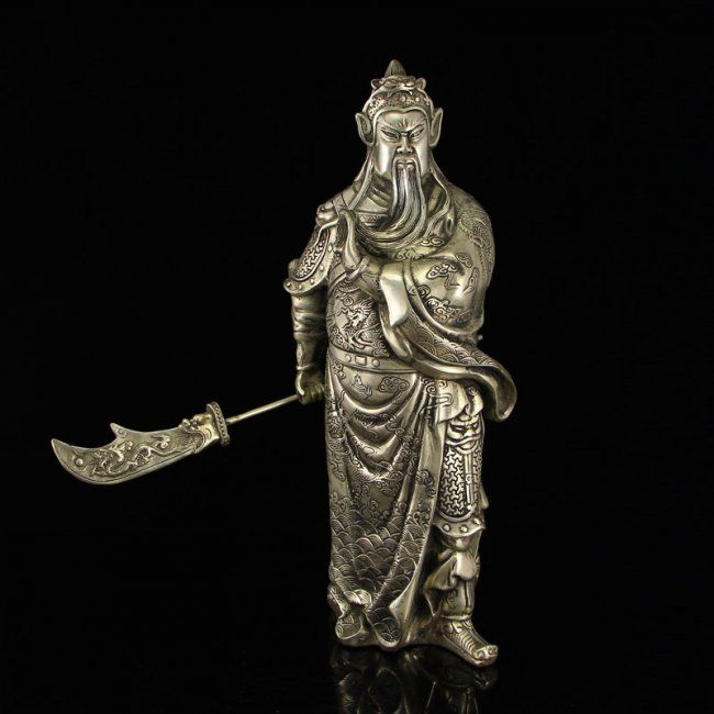 Chinese Folk FengShui Bronze lucky Auspicious Flower Animal Bird Phoenix Statue