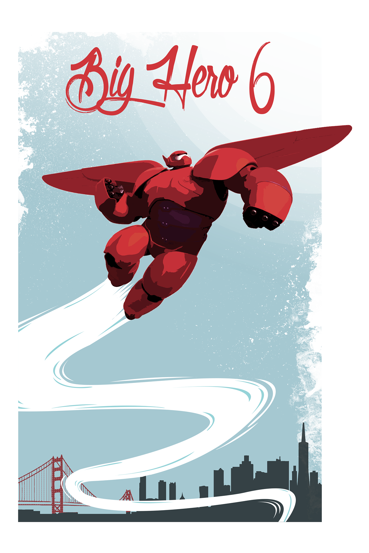 Big Hero 6 Poster by Julien Missaire | Disney Graphic Art ...