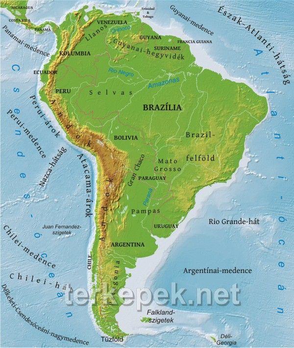 amerika térkép Dél Amerika térkép | Dél Amerika | Pinterest amerika térkép