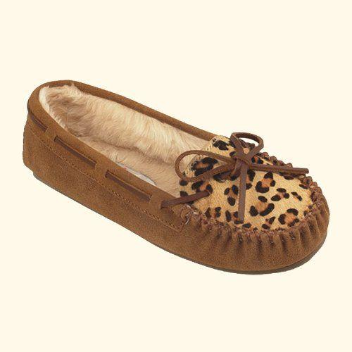 """Women's Minnetonka Mocassins """"#40161"""" - Cinnamon/Leopard (9, Cinnamon/Leopard) Footmarks Shoes http://www.amazon.com/dp/B00DUDPUNQ/ref=cm_sw_r_pi_dp_s4cmub1Q0CM6Q"""