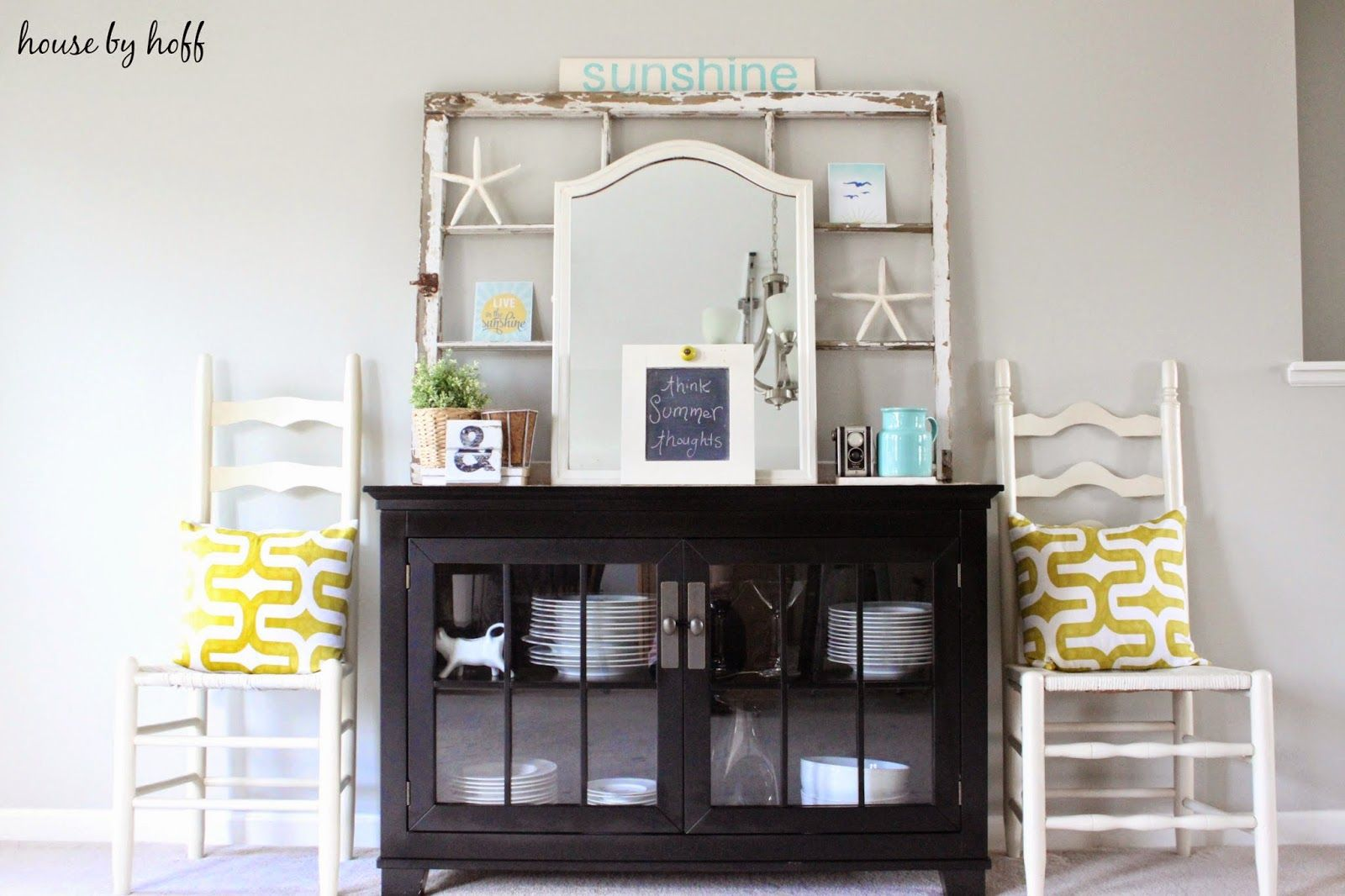 Lovely space by @April {House by Hoff} (And cool Premier Prints fabric pillows)