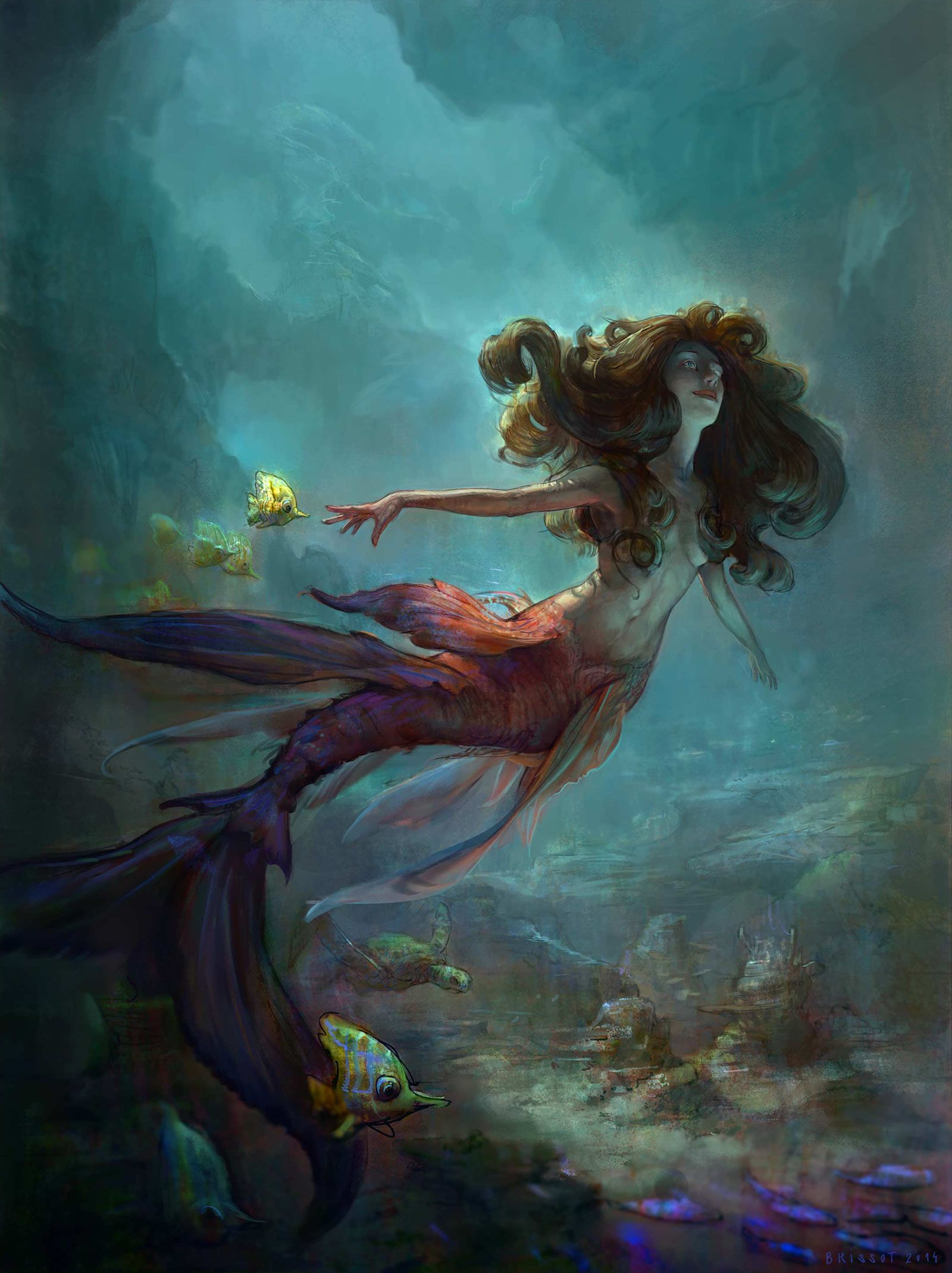 Mermaid Concept Art and Illustrations | Concept Art World
