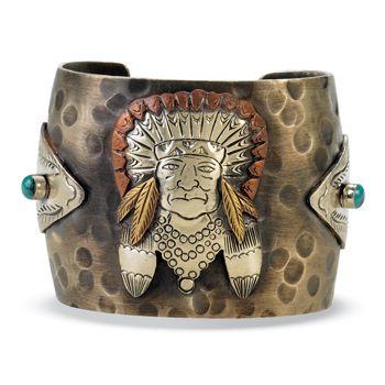Tribal Chief & Arrowheads Cuff