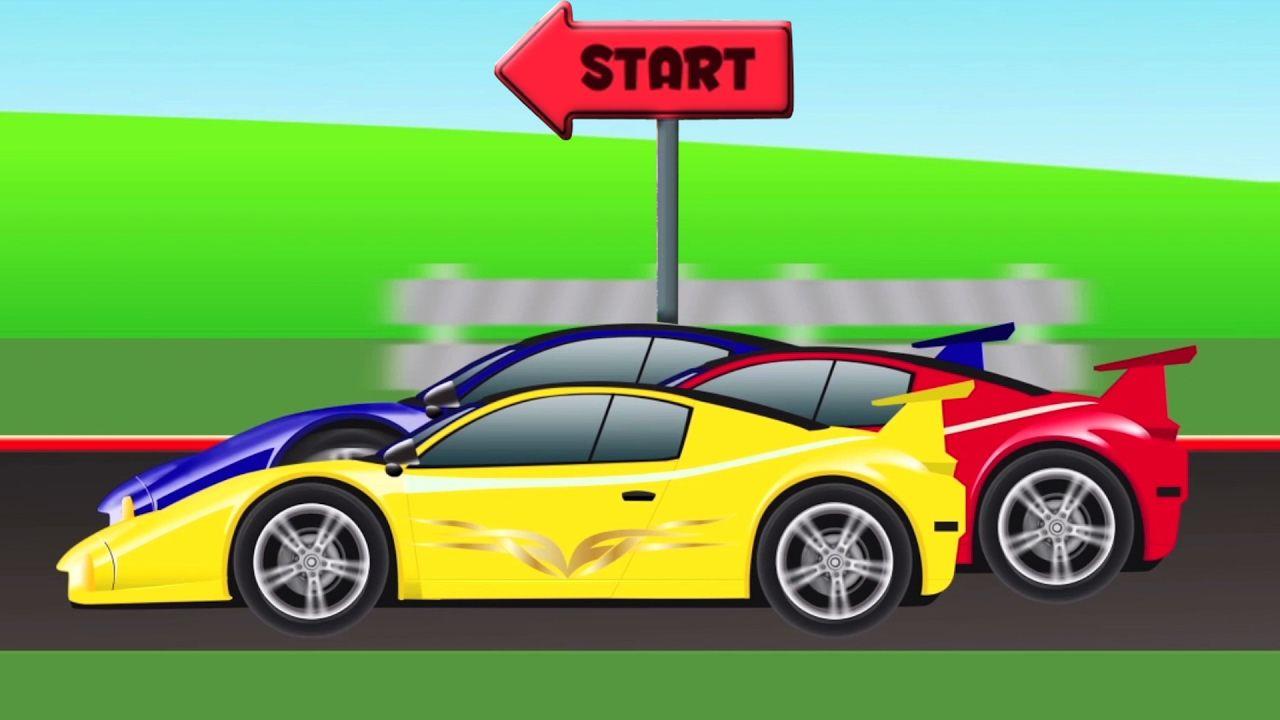 Car Olahraga balap | kartun untuk anak-anak | belajar kendaraan ...