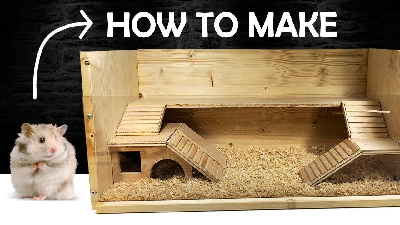 How To Make A Hamster House Diy Pet House Rat House In 2020