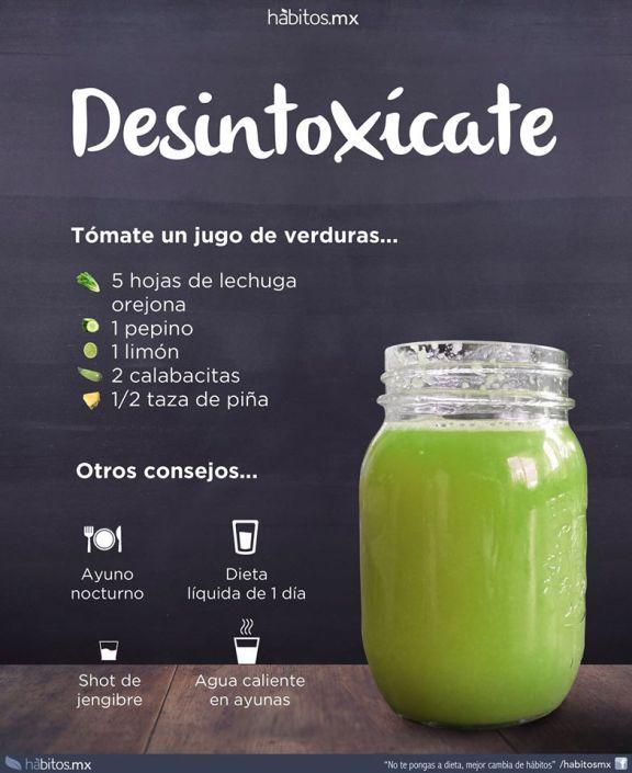 Jugo De Verduras Desintoxicate Detox Juice Detox Juice Recipes Detox Juice Cleanse