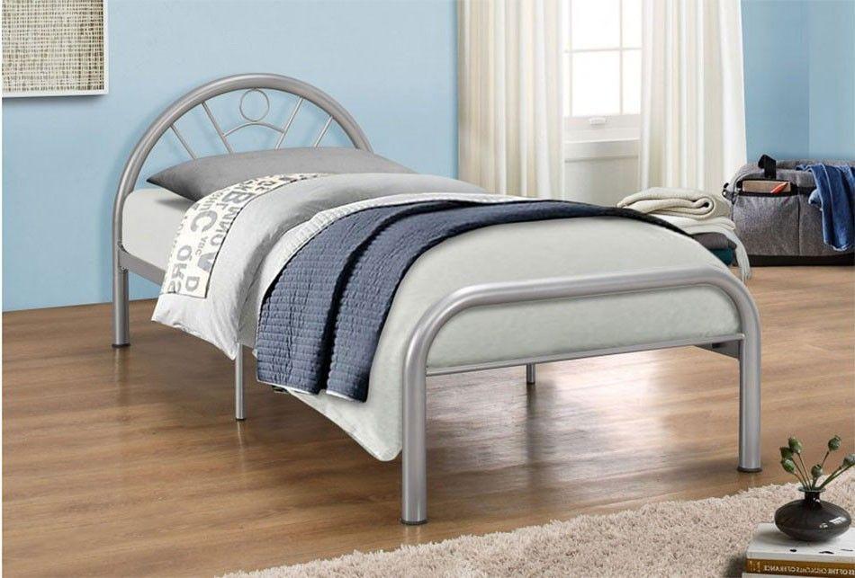 Best Birlea Solo Silver Metal Bed Frame Single Metal Bed 400 x 300