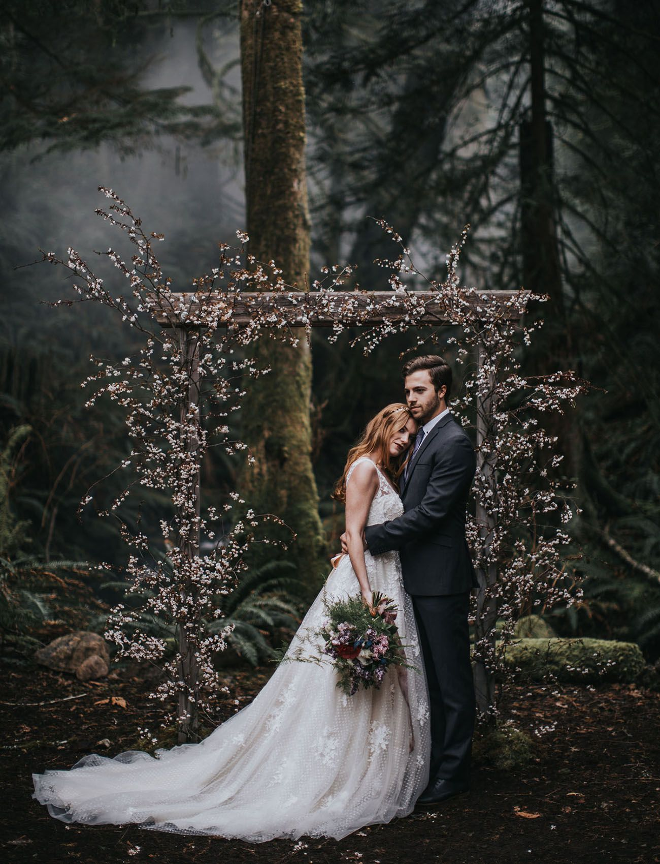Into The Woods An Enchanted Elopement Shoot Modern Inspiration