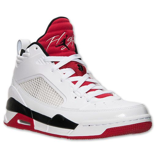best service 50abf 78136 Men s Jordan Flight 9.5 Basketball Shoes   Finish Line   White Black Gym Red