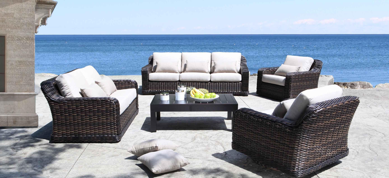 Seafair Outdoor Wicker Patio Furniture Conversation Set ...