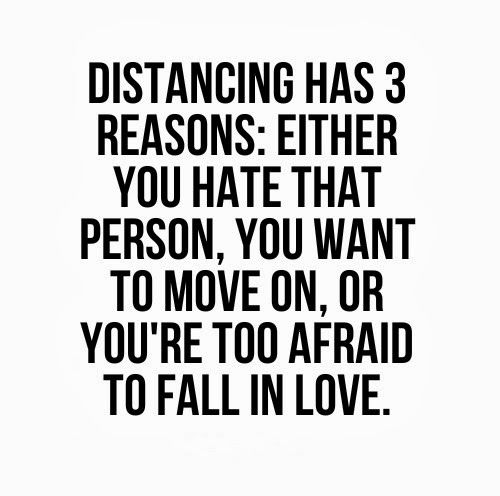 Distancing Has 3 Reasons Either You Hate That Person You Want To