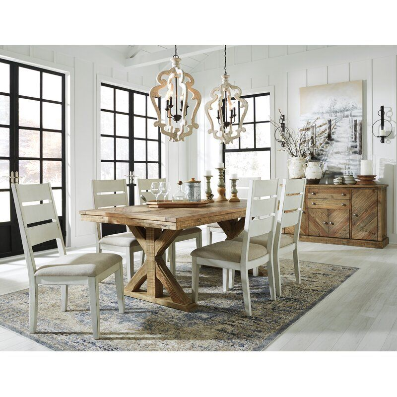 Jessamine 7 Piece Dining Set Dining Room Server Rectangular