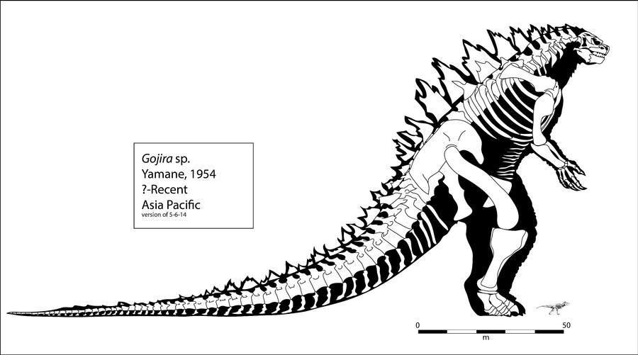 Legendary Gojira (Godzilla) Skeleton by Franz-Josef73 on