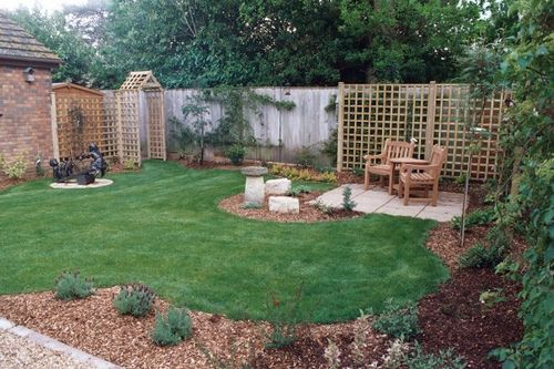 Landscaping Comfy Small Backyard Landscape Ideas With Grey Wicker Inside  Best Backyard Landscaping Ideas U003eu003e Source ...