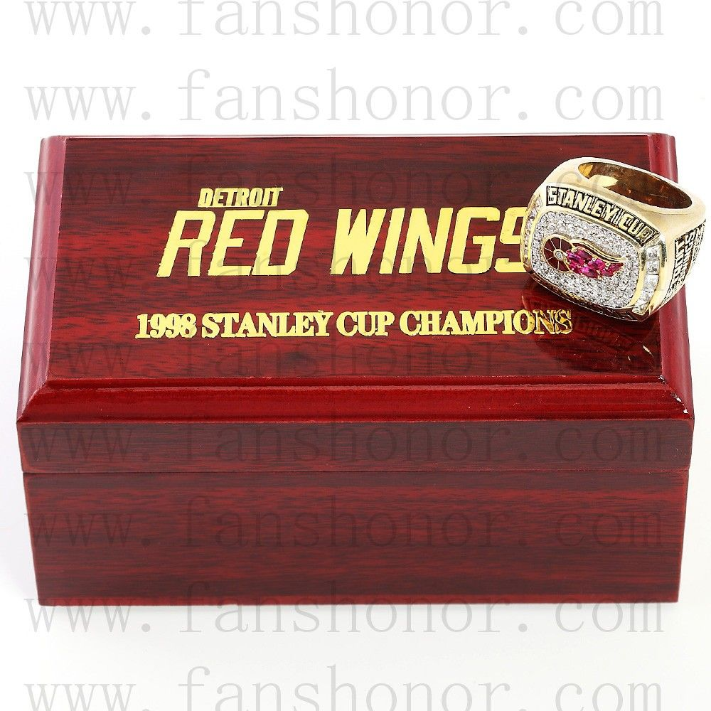 Custom NHL 1998 Detroit Red Wings Stanley Cup Championship Ring - Hockey