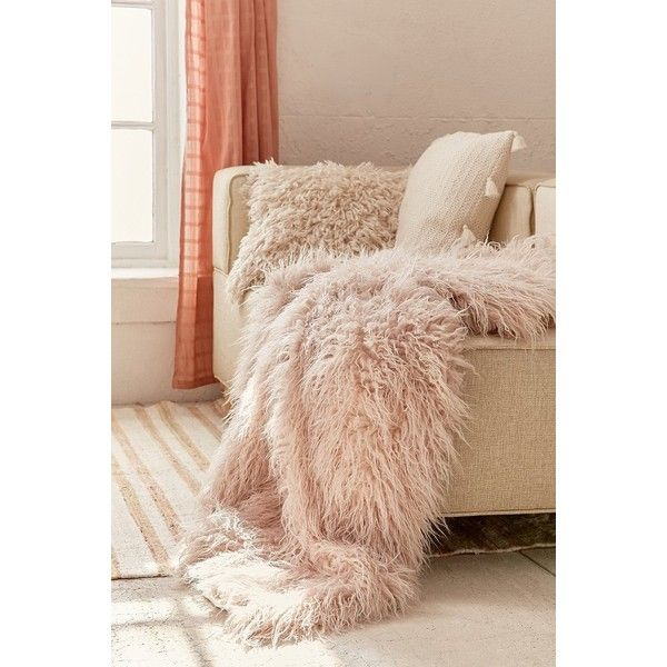 Faux Lamb Fur Throw Blanket ($179) Liked On Polyvore