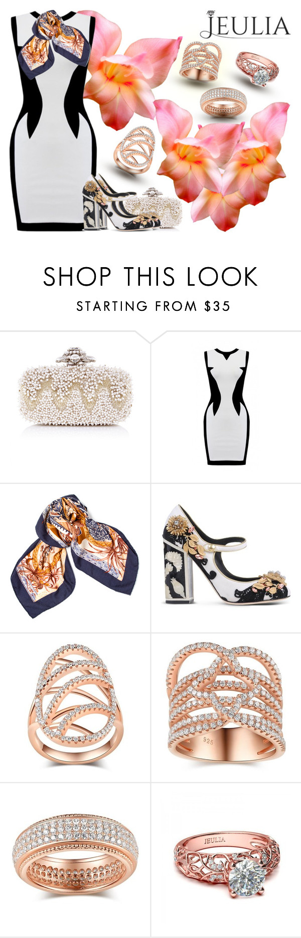 """""""The softness of the withe"""" by gabyidc ❤ liked on Polyvore featuring Oscar de la Renta, Hermès, Dolce&Gabbana, women's clothing, women's fashion, women, female, woman, misses and juniors"""