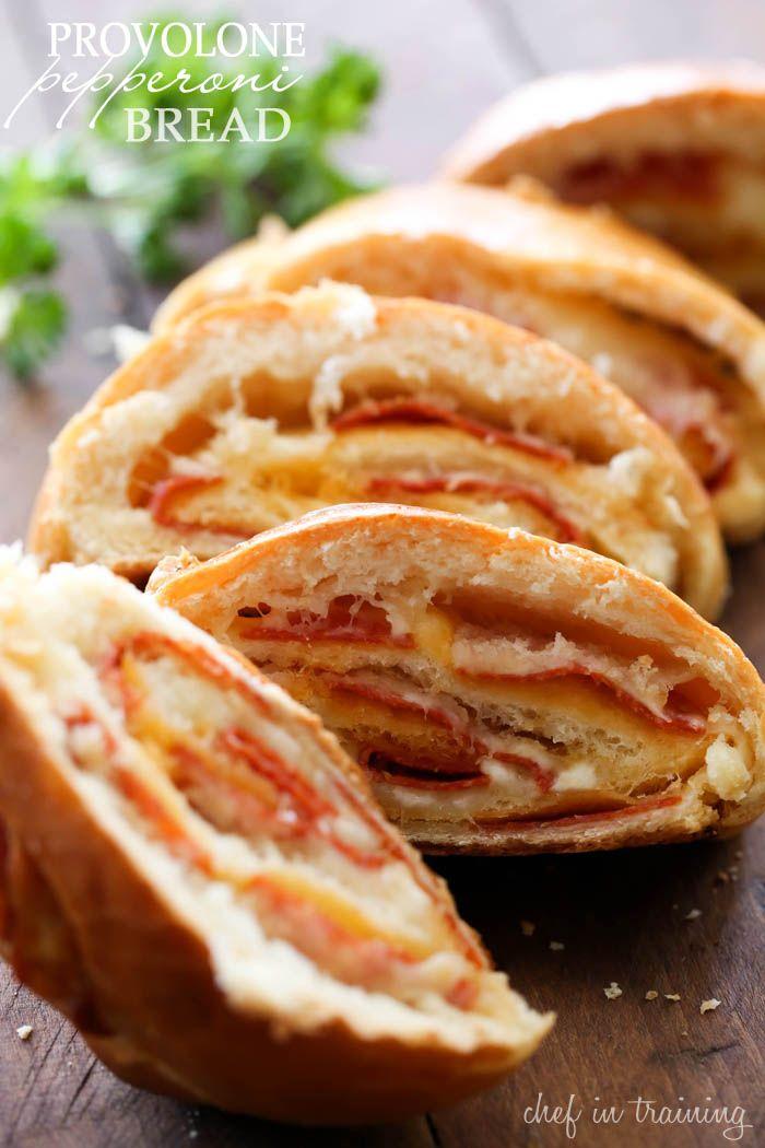 Italian Food ~ #food #Italian #italianfood #ricette #recipes ~ Provolone Pepperoni Bread